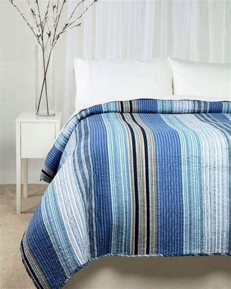 nautical coverlet ocean blue stripe twin single quilt set nautical