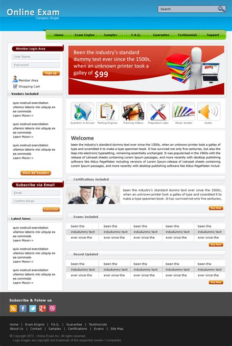 design online exam website 50 high quality free psd files psd files design blog