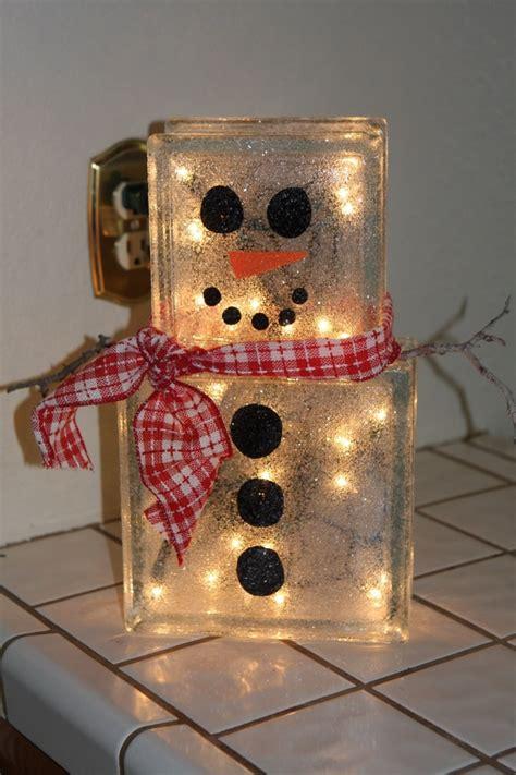 glass block christmas light lighted glass block decorations psoriasisguru