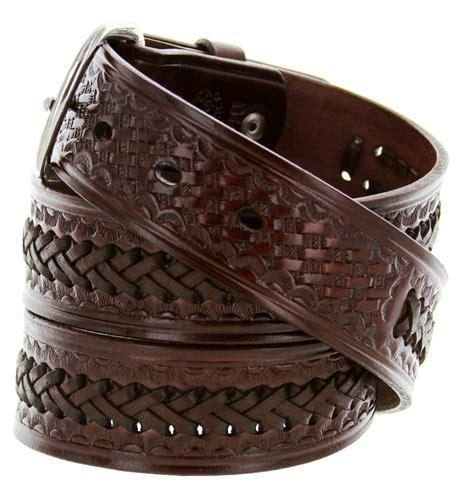 2283 western basketweave and x pattern genuine leather