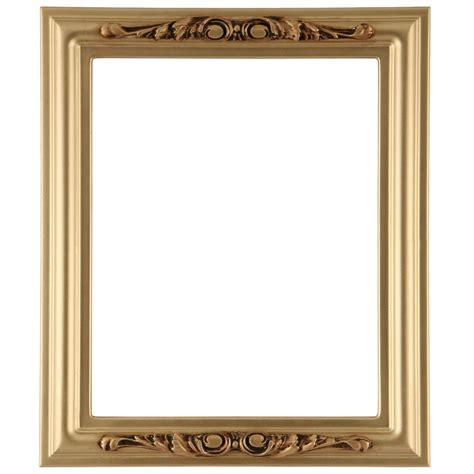 picture frame rectangle frame in gold spray finish antique gold paint
