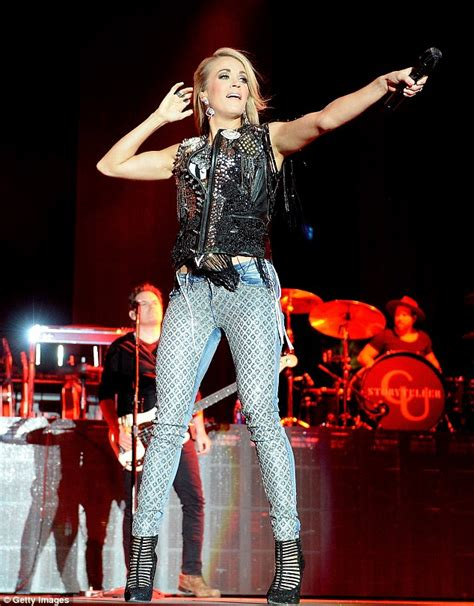 theme music jeans carrie underwood wears rhinestone jeans for california s