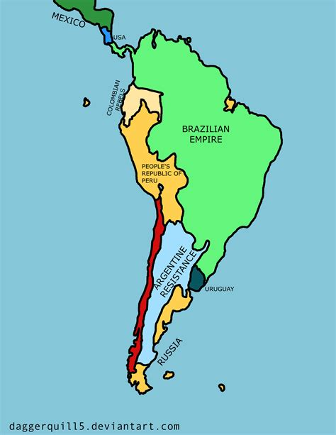 south america map 2 future map of south america by daggerquill5 on deviantart