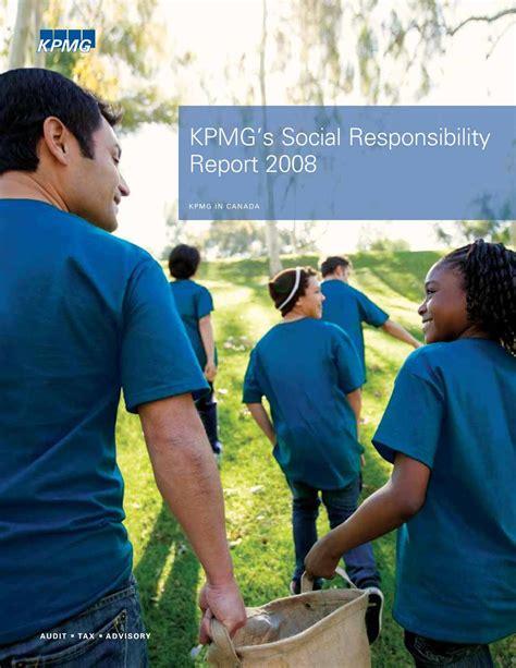 kpmg si鑒e social calam 233 o kpmg kpmg s social responsibility report 2008