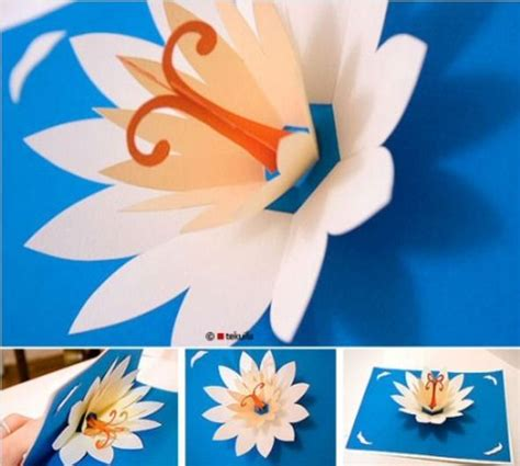 Lotus Flower Pop Up Card Template Free by Diy Pop Up Card Gift Ideas