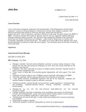 Cons Of Resume Writing Services by Construction Resume Writing Service Ihireconstruction