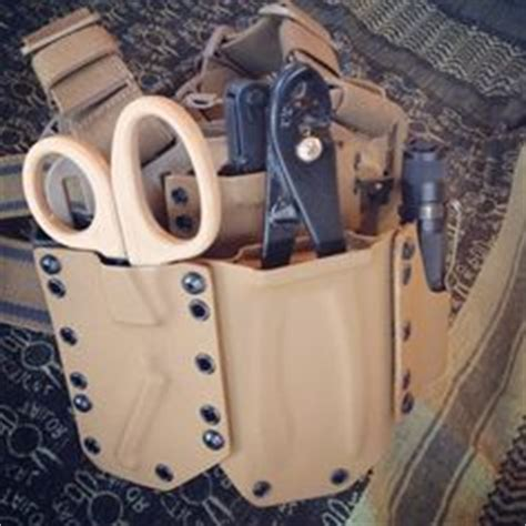 kydex tool pouch leather and kydex on gun holster custom
