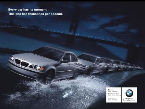 bmw ads every car has its moment this one has thousands per