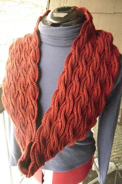 brioche knit stitch free pattern reversible cabled brioche stitch scarf