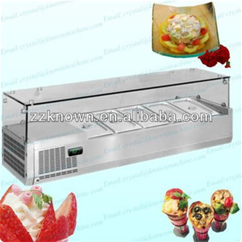 5 pans table top air cooling refrigerated commercial salad