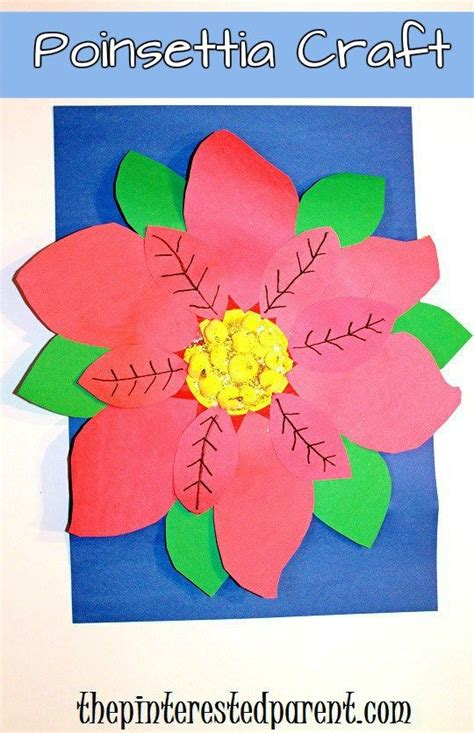 poinsettia craft for paper plate poinsettia craft for for