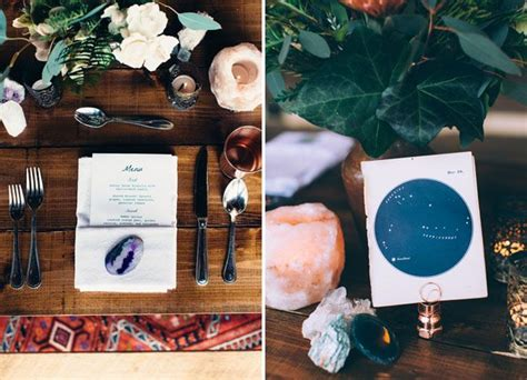 eclectic celestial wedding inspiration inspiration wedding and forest themes