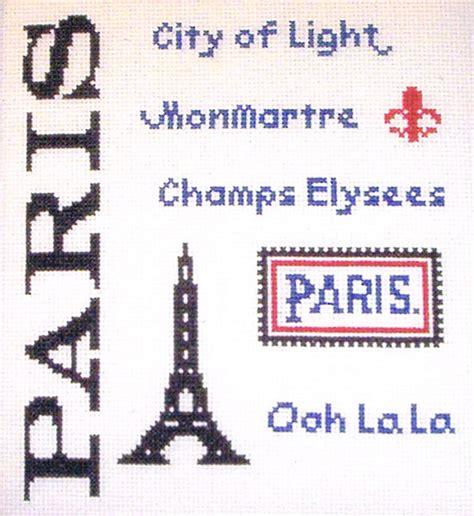 paris pattern works paris cross stitch pattern by pickle barrel designs