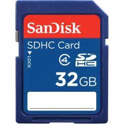 Flash Cards Staples Sandisk 32gb Sdhc Memory Card Class 4 Sdsdb 032g B35 B Amp H Photo