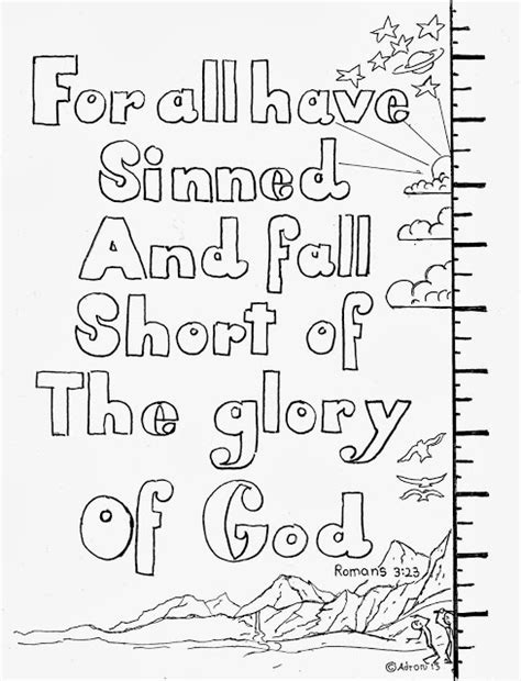 fall coloring pages with bible verses coloring pages for kids by mr adron romans 3 23 for all