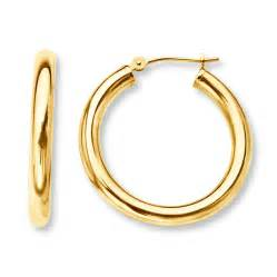 hoop earrings 14k yellow gold 25mm