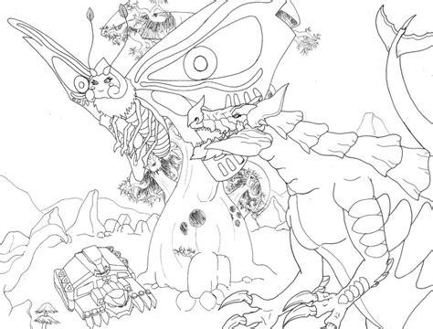 Godzilla Vs Mothra Coloring Pages | not godzilla vs mothra by ericmhe on deviantart