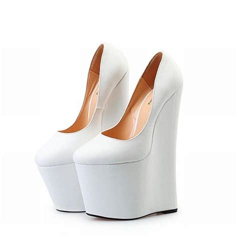 big size 40 48 womens bottom wedges high heels shoes