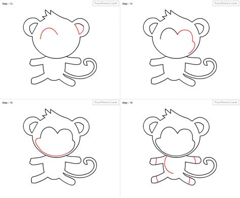 Monkey Drawing Step By Step how to draw a monkey hanging from a tree step by step