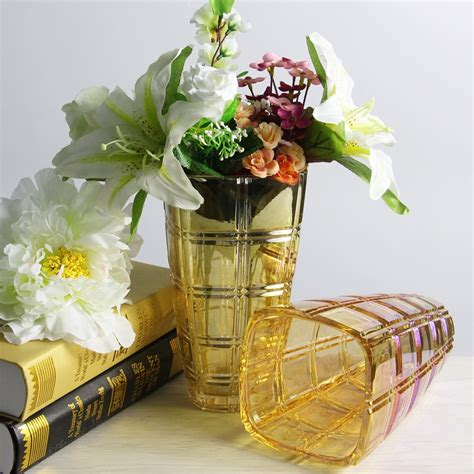 wholesale vases electroplating glass flower vases and