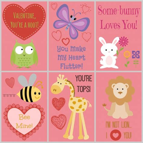 free printable animal valentines day cards 25 free printable valentines for your kids to hand out