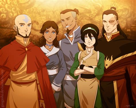 avatar the last airbender of the gaang all grown up by cassjcossette on