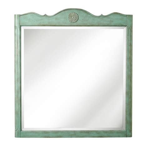 bathroom mirrors at home depot home decorators collection keys 33 in w x 36 in h bath