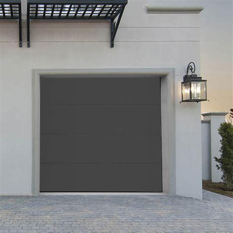 porte de garage sectionnelle lisse grise porte