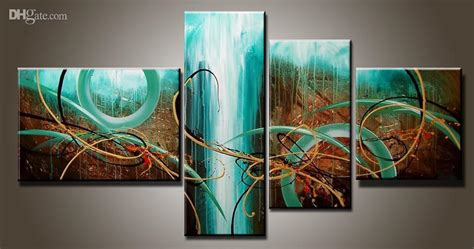 Dekorasi Dinding Abstract Painting 4in1 2018 modern abstract painting
