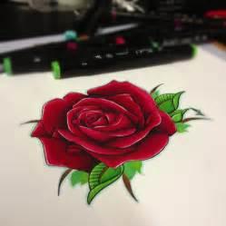 semi realistic rose tattoo design by jakeshunt on deviantart