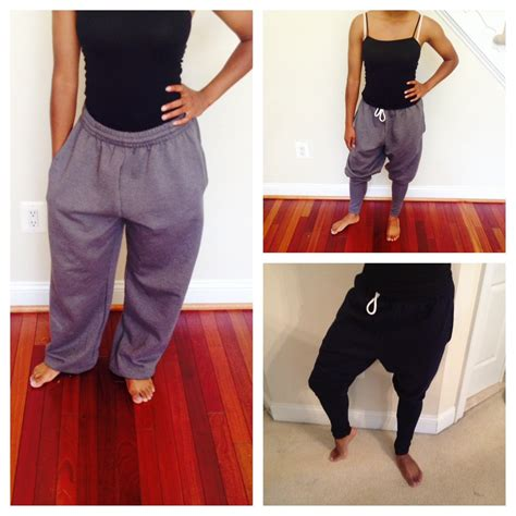 Harem Sweatpants diy harem sweatpants tutorial sewing patterns