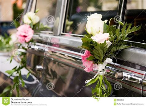Wedding Car With Flowers by Wedding Car Flowers Decorated Stock Images Image 9844214