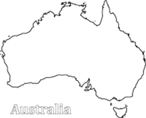 Australia Flag Clip Art Printable Australia Map Coloring Page