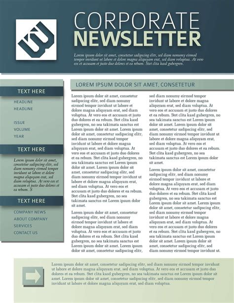 free templates for newsletters 9 free business newsletters templates exles inside