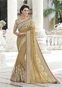 new sarees 2016 latest indian saris online shopping beige latest