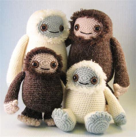 baby yeti pattern yeti and bigfoot amigurumi pattern crochet pattern by lucy