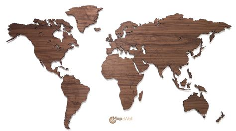 Map Of The World Wooden by Mapawall Wooden World Map Wall Decoration