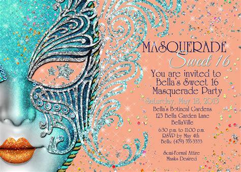 Sweet Sixteen Backyard Party Ideas Masquerade Party Masquerade Invitation Mardi Gras Party