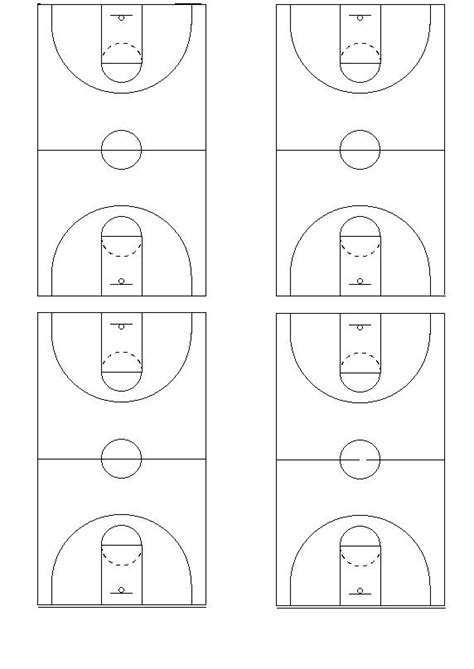 blank basketball template best photos of basketball court diagram blank blank