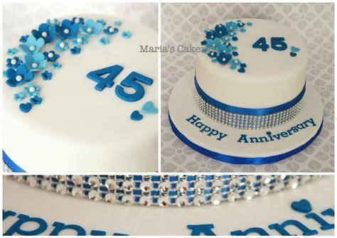 Sapphire Anniversary cake   Wedding Anniversary in 2019