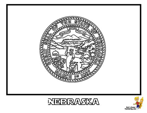 noble usa flags printables state flags nebraska
