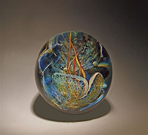 Glass Paper Weight - grotto paperweight by robert burch glass paperweight