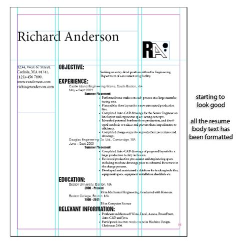resume template indesign cs5 how to design a resume in indesign cs5 indesigntutorials