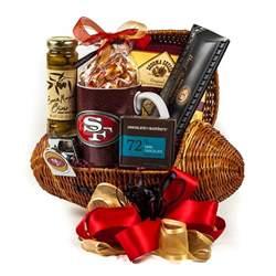 football gift baskets 49ers touchdown football gift basket