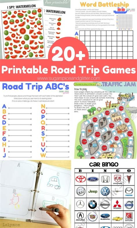 printable games for road trips 40 free printable road trip games activities