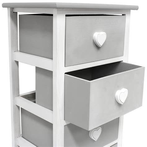 Grey Chest Of Drawers Bedroom by Hartleys White Grey 5 Drawer Storage Unit Chest Of