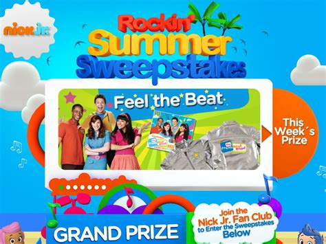 Vip Ticket Giveaway Vacation - nick jr s rockin summer sweepstakes sweepstakes fanatics
