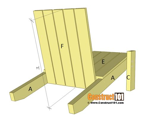 Folding Adirondack Chair Plans by Simple Adirondack Chair Plans Diy Step By Step Project