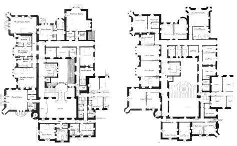 castle plans skibo castle floors