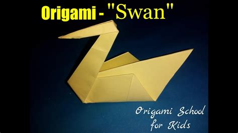 Origami Swan For - origami swan how to make a paper swan origami school